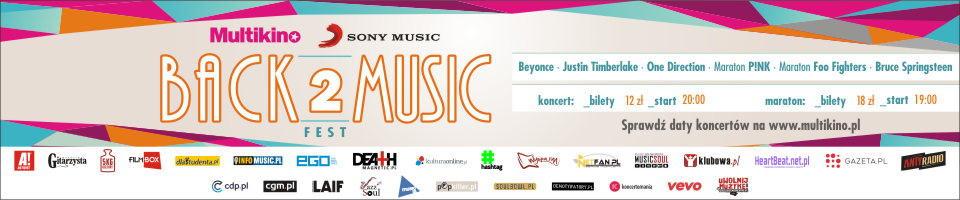 Back2Music Fest w Multikinie Banner