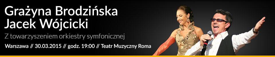 Gra�yna Brodzi�ska i Jacek W�jcicki w Teatrze Roma Banner