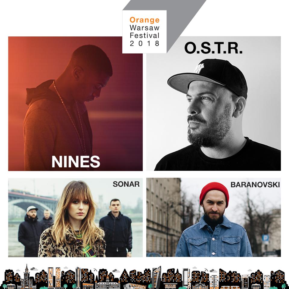 Nines, O.S.T.R. oraz zwycięzcy konkursu Rozgrzewka nad Wisłą – Sonar i Baranovski dołączają do składu Orange Warsaw Fest