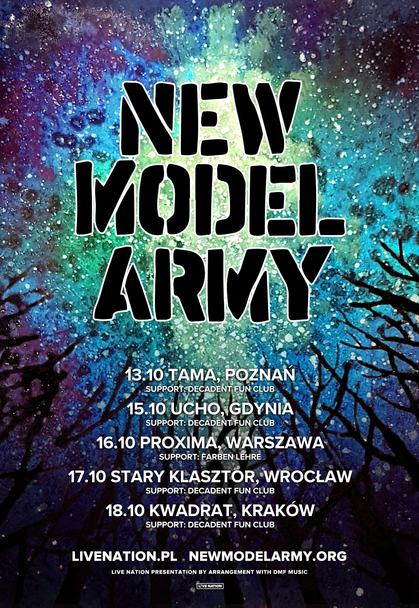 Decadent Fun Club dołącza do trasy New Model Army
