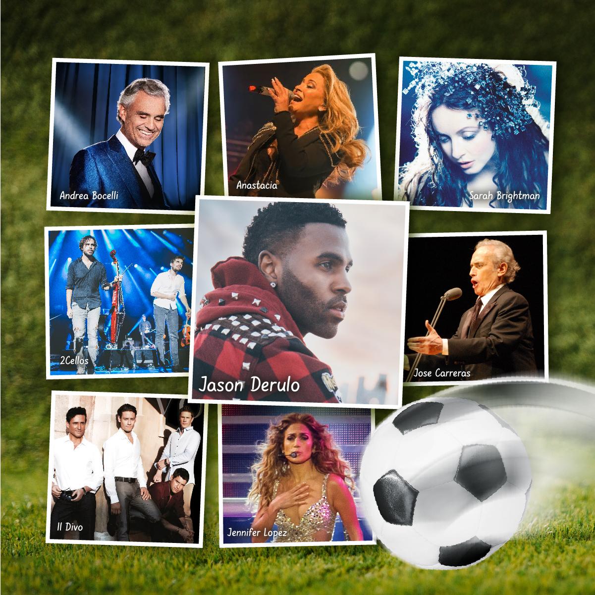 Śpiewali na największych stadionach świata! Kto z nich może się pochwalić piłkarskim hitem?