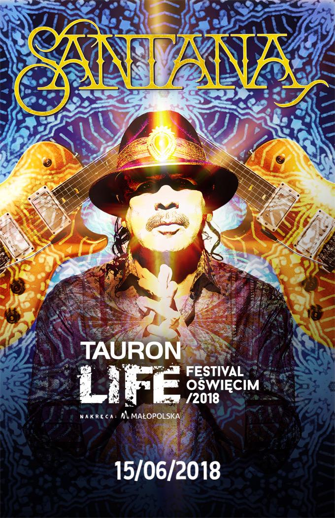 Santana gwiazdą Tauron Life Festival Oświęcim 2018!