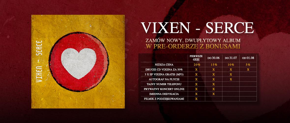 Vixen: start pre-orderu 2 płyt i premiera 75% EP!