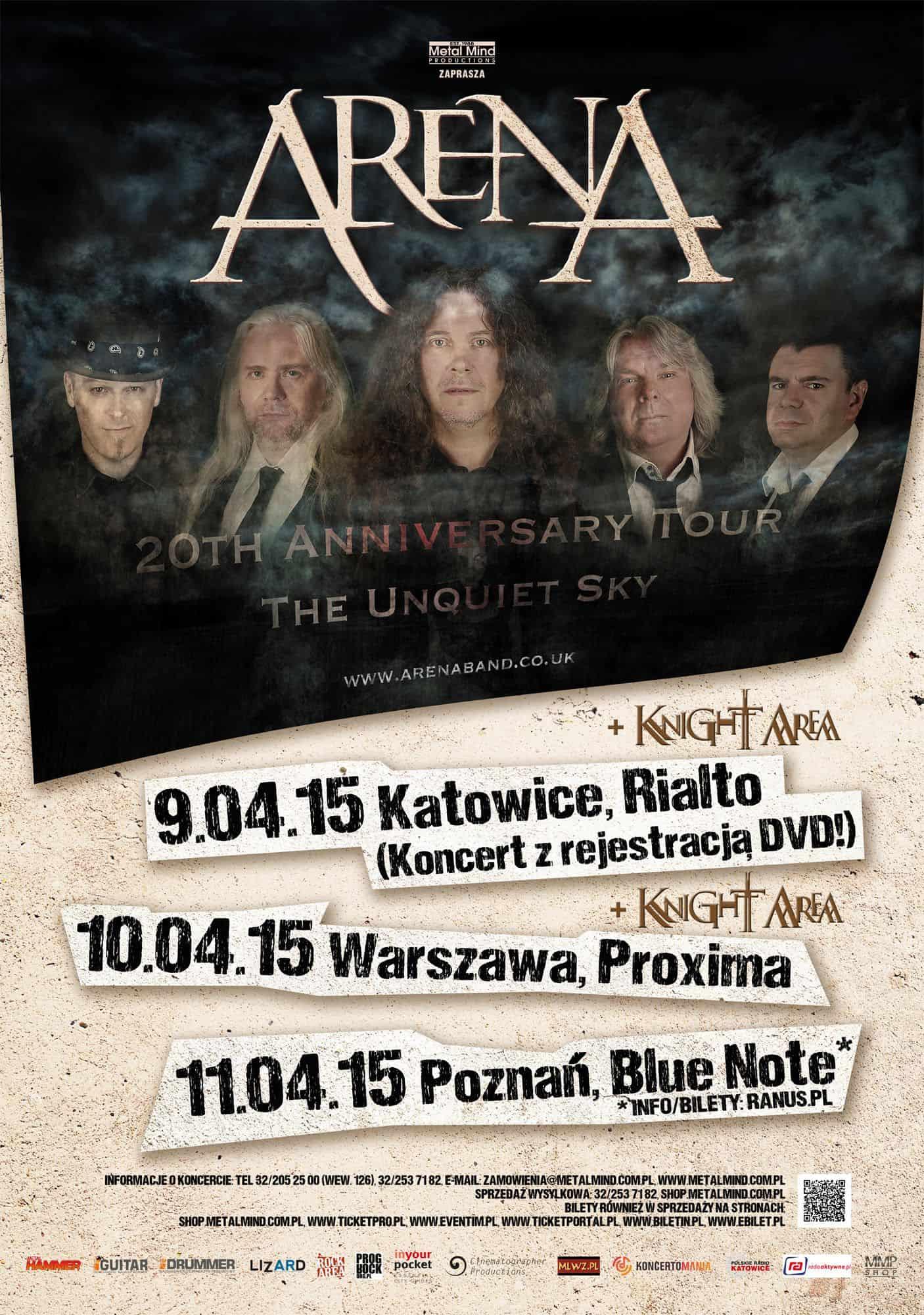 Arena już w kwietniu nagra w Polsce koncertowe DVD!