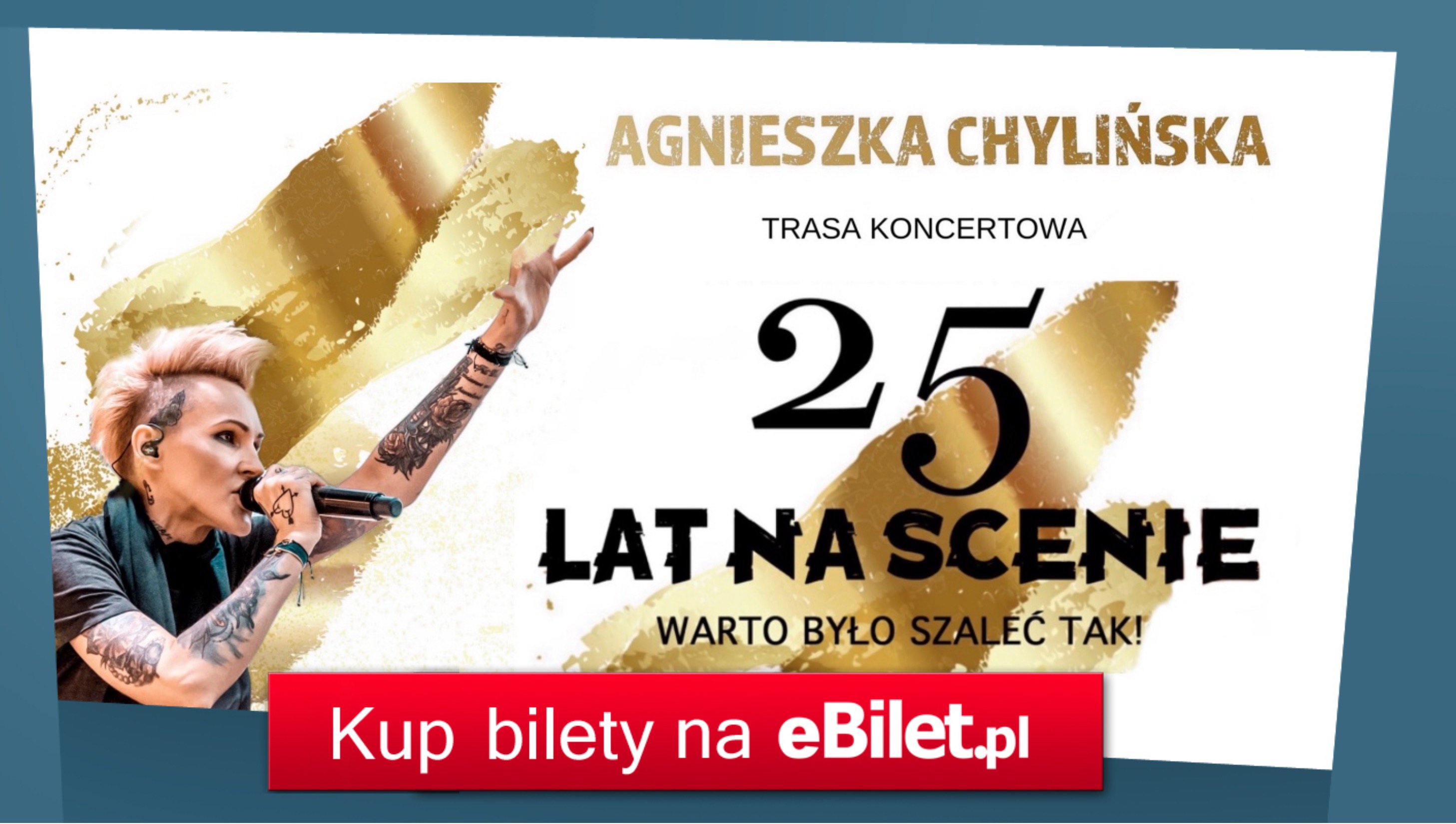 Agnieszka Chylińska ogłasza jubileuszową trasę koncertową!