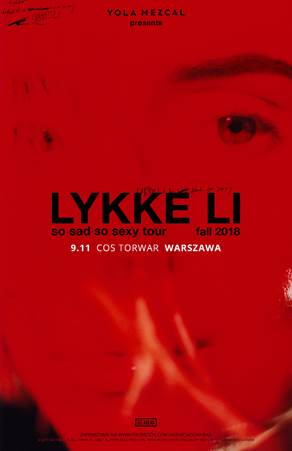 Lykke Li na jedynym koncercie w Polsce! Artystka zagra 9 listopada na warszawskim Torwarze!
