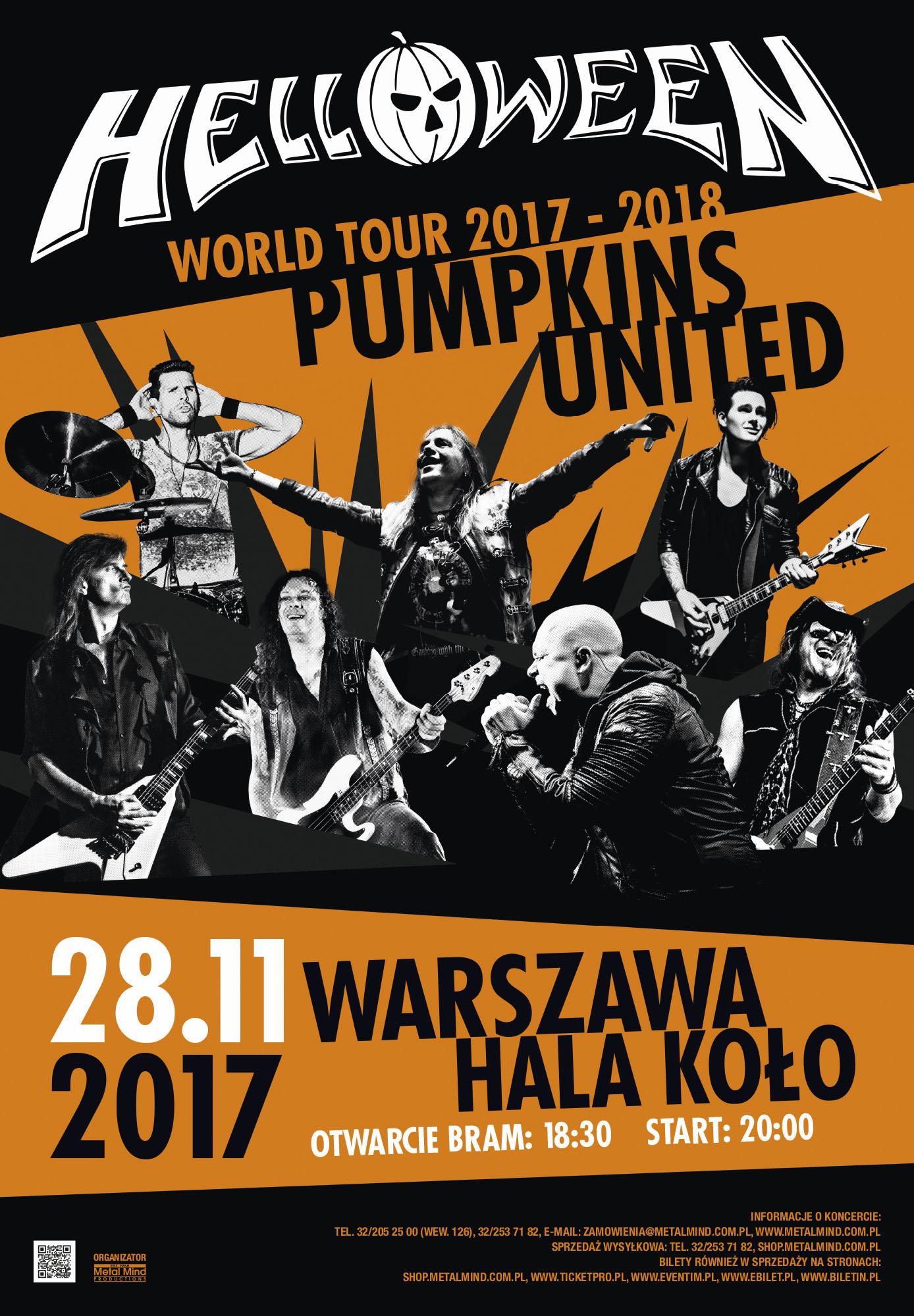 Helloween Pumpkins United w Warszawie!