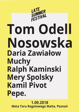 Tom Odell wraca do Polski! 1 września wystąpi w Poznaniu na Late Summer Festival