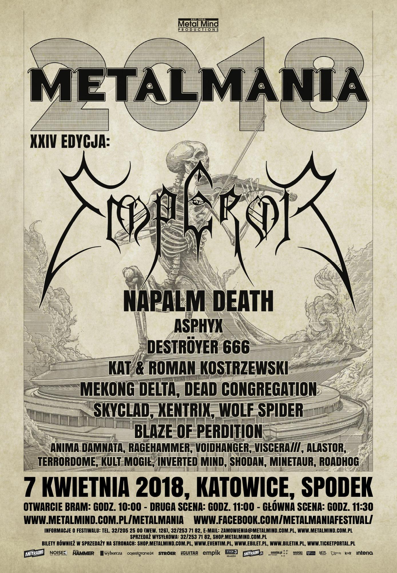 Metalmania 2018 - kolejne szczegóły festiwalu!