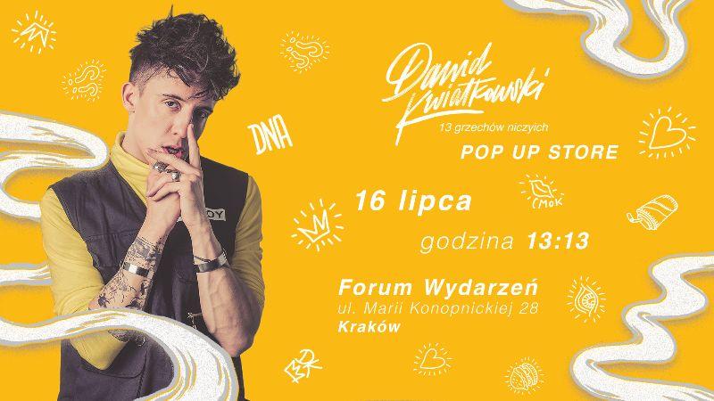 Dawid Kwiatkowski rusza w POP UP TOUR po Polsce