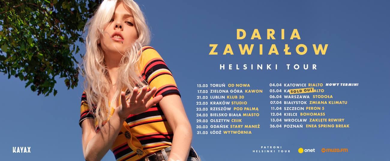 Daria Zawiałow w trasie! Startuje Helsinki Tour!