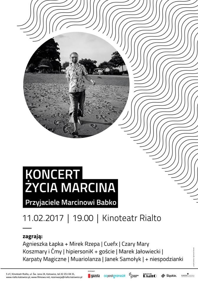 Koncert Życia Marcina - Przyjaciele Marcinowi Babko: Wyjątkowy koncert w kinoteatrze Rialto!